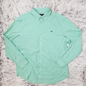 Vineyard Vines Green Whale Shiry Classic Fit